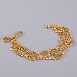 Tory Burch Gold PL Logo Chain Bracelet NEW
